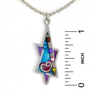 Seeka Purple Star of David Necklace