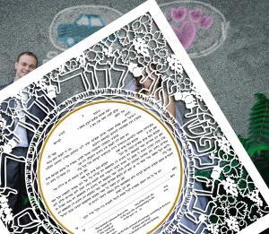 My Beloved Paper-Cut Ketubah