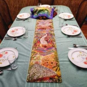 Sukkot Pilgrimage Table Runner