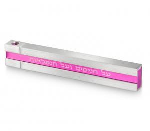 Pocket Travel Chanukah Menorah with Sliding Top - Pink