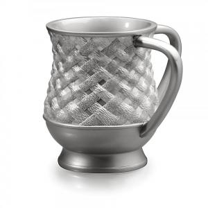 Two Handled Wash Cup Silver Braid Design