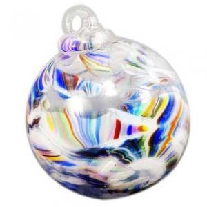 Blown crushed wedding glass globe keepsake