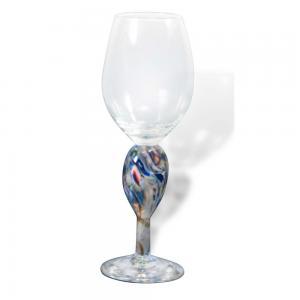 Blown Crushed Wedding Glass Kiddush Cup Keepsake
