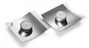 Traveling Modern Candle Holders - Aluminum