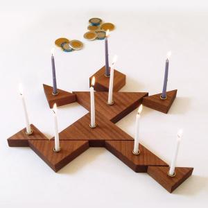 Tangram Hanukkah Menorah
