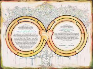 Heavenly Labyrinth Ketubah