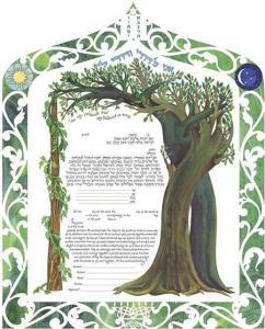 Interwined Trees Ketubah