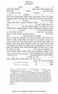 Chuppah Ketubah - Hebrew Border