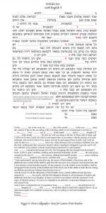 Chuppah Ketubah - Hebrew and English Border