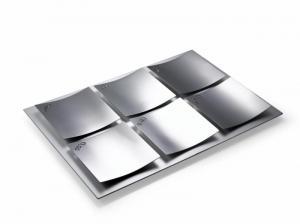 Dune Seder Plate, Shiny Steel