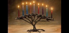 Tree of Life menorah by Scott Nelles