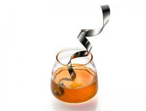Steel Ribbon Honey Dipper and Honey Pot - Aluminum