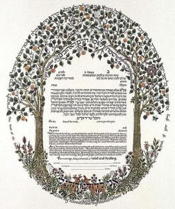 Trees of the Forest (Gold) Ketubah