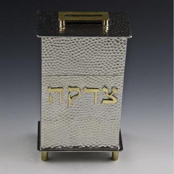 Rectangular Tzedakah Box, Large Pebble Texture