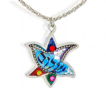 Star and Dove Necklace - Stainless Steel