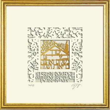 Wall Art Home Blessing Framed Papercut