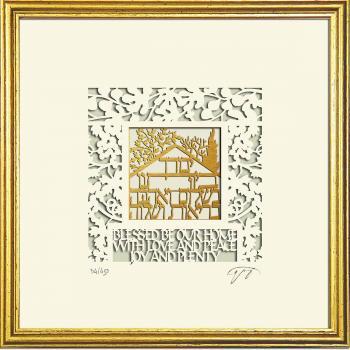 Wall Art Home Blessing Framed Papercut