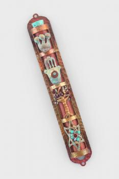 Hamsa Tree Star of David Mezuzah