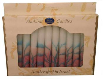 Safed Shabbat and Holiday Candles Pink
