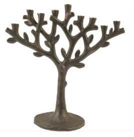 Oxidized Tree of Life Menorah