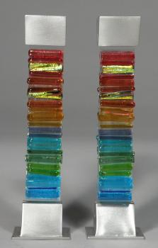 Rainbow Icicle Candle Holders