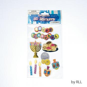 Chanukah Stickers 3D