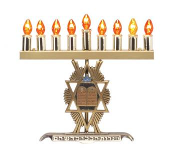 Electric Menorah With Tablet Design