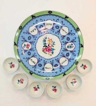 Spring Flowers Seder Plate and Cups