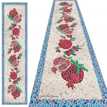 Rimosaic Pomegranate Table Runner