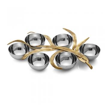 Palm Seder Plate - Stainless Steel