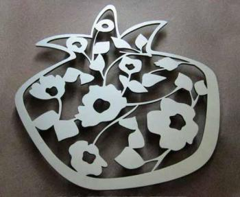 Trivet-Blooming Pomegranate