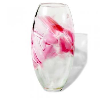 LARGE CRUSHED WEDDING GLASS VASE