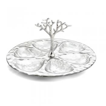 Tree of Life Glass 6 Compartment Plate