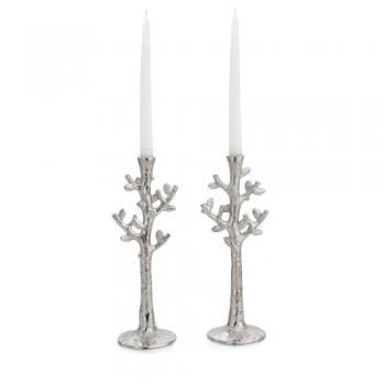 Tree of Life Candleholders-Nickle Plate