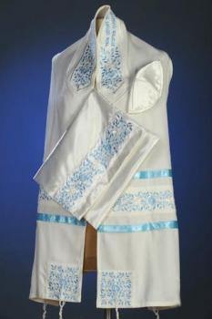 Blue Rose Tallit Set