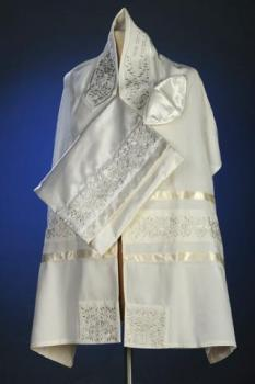 Silver Rose Tallit Set