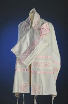 Pink Rose Tallit Set