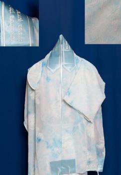 Blue Chiffon Tallit Set