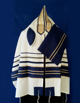 Men's Traditional Wool Tallit Set