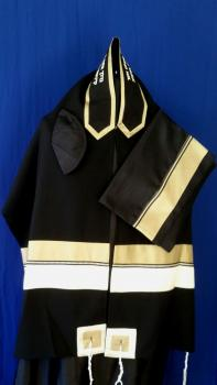 Men's Black Tallit Set