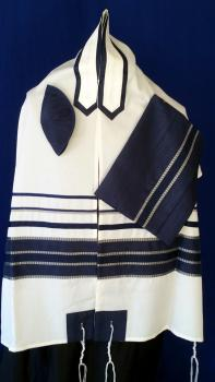 Men's Traditional Navy Tallit Set