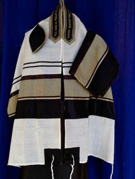 Men's Black and Olive Tallit Set