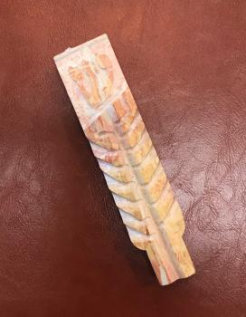 Ancient Stalk of Wheat Stone Mezuzah