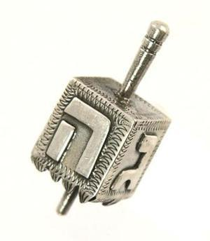 19th Century Germany Dreidel - Sterling Silver