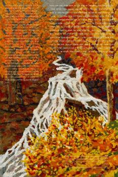 Autumn Waterfall Ketubah
