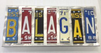 Balagan Letter Art - Metal