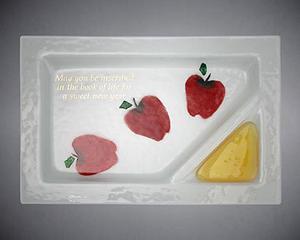 Sweet Honey Year Apple and Honey Dish - Glass