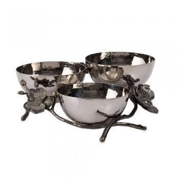Black Orchid Triple Nut Dish