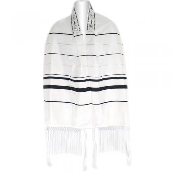 Black And Silver Stripe Shvotim Talis