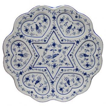 Blue and White Seder Plate Replica Vienna